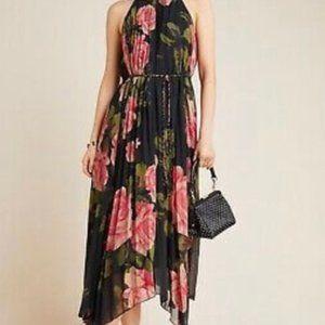 Anthropologie Emeline Pleated Midi Dress